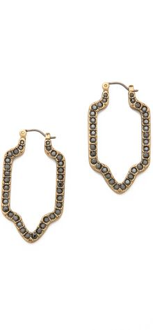 Tory Burch Grady Pave Earrings - Lyst