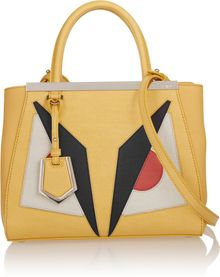 Fendi 2jours Small Texturedleather Shopper - Lyst