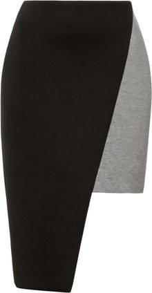 Josh Goot Colorblock Asymmetric Neoprene Skirt - Lyst