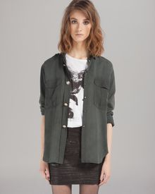 Maje Shirt Military Inspired - Lyst