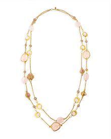 Jose & Maria Barrera 2strand Long Pink Quartz Necklace 42 - Lyst