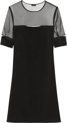 Joseph Ally Cutout Crepe and Chiffon Dress - Lyst