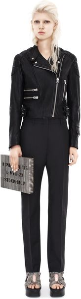 Acne New Karma Mohair Black Pants - Lyst