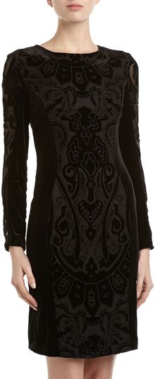 Alexia Admor Velvet Cutout Long Sleeve Dress  - Lyst