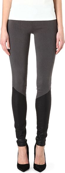 Goldsign Zebra Halfcoated Skinny Midrise Leggings - Lyst