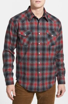 Pendleton Canyon Fitted Virgin Wool Flannel Western Shirt - Lyst