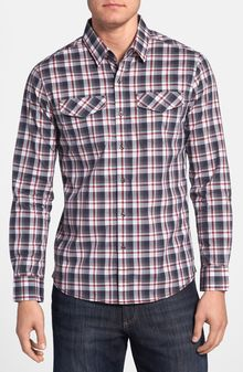 7 Diamonds Think Back Plaid Woven Shirt - Lyst