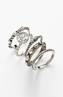 Ariella Collection Cocktail Stack Rings - Lyst