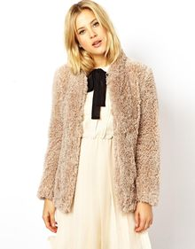 Asos Exclusive Fluffy Coatigan - Lyst