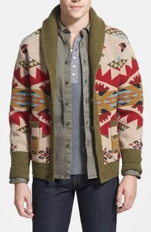 Pendleton Journey West Pattern Lambs Wool Shawl Cardigan - Lyst