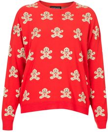 Topshop Gingerbread Man Sweater - Lyst