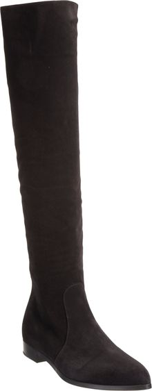 Prada Pointed Toe Knee Boot - Lyst