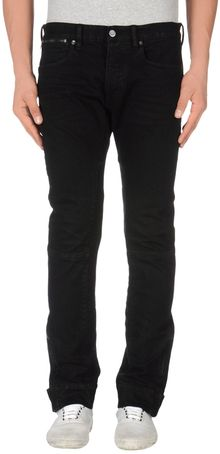 Ralph Lauren Black Label Denim Trousers - Lyst