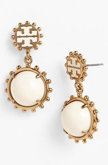 Tory Burch Winslow Logo Drop Earrings - Lyst