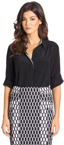 Diane Von Furstenberg Lorelei Two Silk Blouse - Lyst
