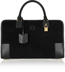 Loewe Amazona Large Leather and Suede Tote - Lyst