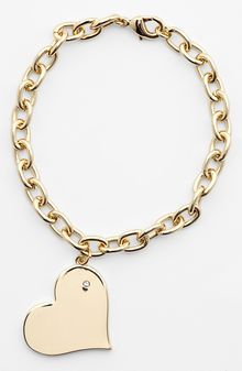 Ariella Collection Heart Charm Bracelet - Lyst