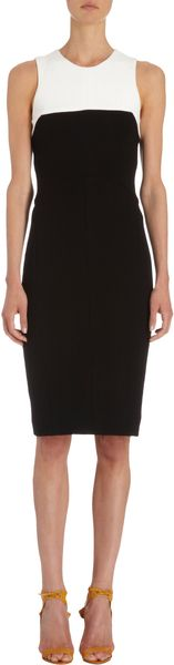 Narciso Rodriguez Contrast Sleeveless Dress - Lyst