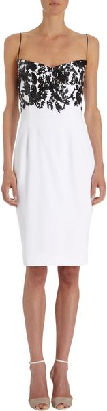 Narciso Rodriguez Floral Beaded Cocktail Dress - Lyst