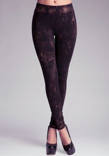 Bebe Metallic Wash Legging - Lyst