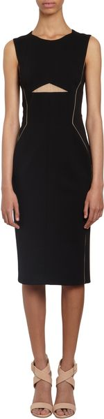 J. Mendel Contrast Seam Sleeveless Sheath - Lyst