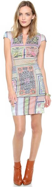 Just Cavalli Morris Print Cap Sleeve Dress - Lyst