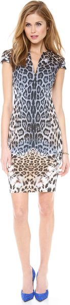 Just Cavalli Leo Degrade Print Cap Sleeve Dress - Lyst
