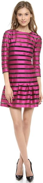 Sonia By Sonia Rykiel Striped Drop Waist Dress - Lyst