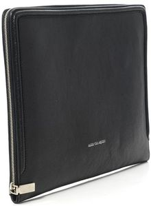 Alexander McQueen Leather Document Holder - Lyst