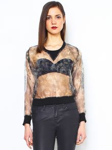 Glassworks Sheer Rose Sweatshirt - Lyst