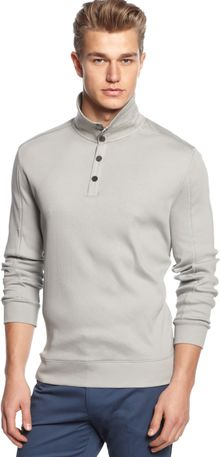 Calvin Klein Long Sleeve Rib Stripe Shirt - Lyst