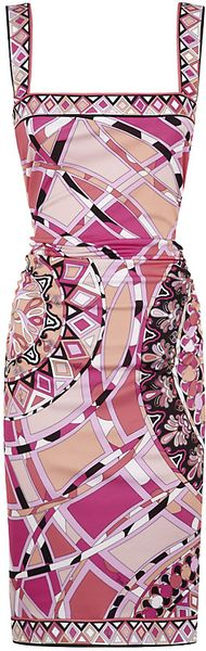 Emilio Pucci Capri Bodycon Dress - Lyst