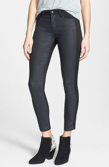 Joe's The Oblique Contrast Panel Crop Skinny Jeans - Lyst