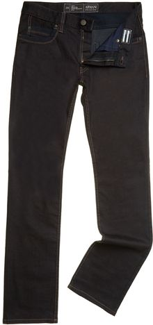 Armani 5 Pocket Regular Fit Rinse Jeans - Lyst