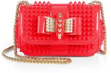Christian Louboutin Sweet Charity Studded Patent Leather Mini Shoulder Bag - Lyst