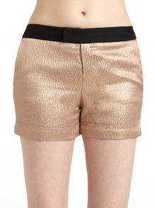 Derek Lam Satin Metallic Shorts - Lyst