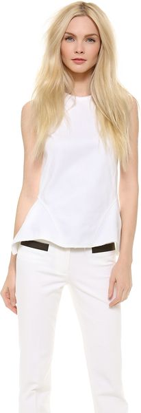Derek Lam Peplum Top with Exposed Zip - Lyst