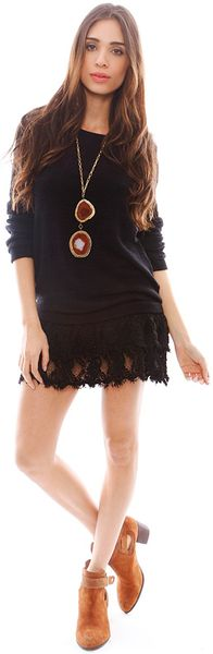 Nightcap Peekaboo Sweater Dress - Lyst
