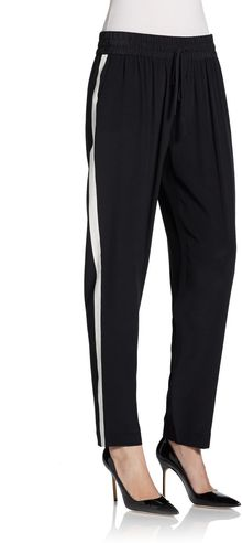 Rachel Zoe Side-striped Silk Pants - Lyst
