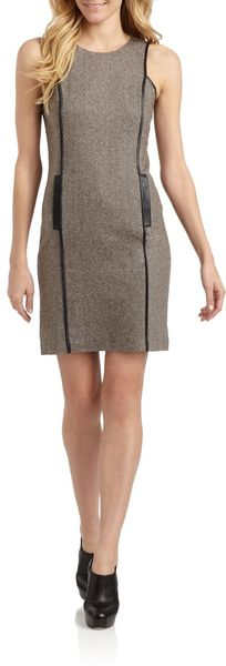 Sachin & Babi Flynn Tweed Piping Detail Dress - Lyst