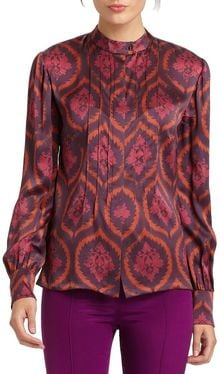 Sophie Theallet Silk Wallpaper Blouse - Lyst