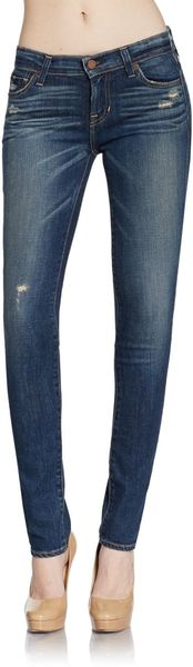 Textile Elizabeth And James Ozzy Distressed Skinny Jeans - Lyst