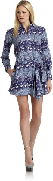 Thakoon Addition Island Print Wrap Around Shirtdress - Lyst