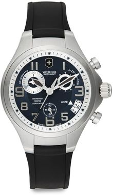 Victorinox Base Camp Chronograph Rubber Strap Watch - Lyst