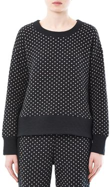 Elizabeth And James Polkadot Cotton Sweatshirt - Lyst