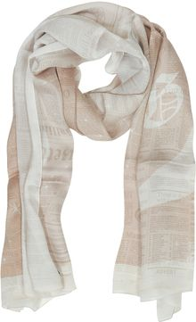 John Galliano Light Pink Signature Print Silk Stole - Lyst