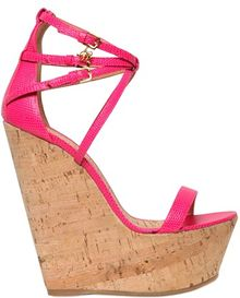 DSquared2 155mm Lizard Printed Calfskin Wedges - Lyst
