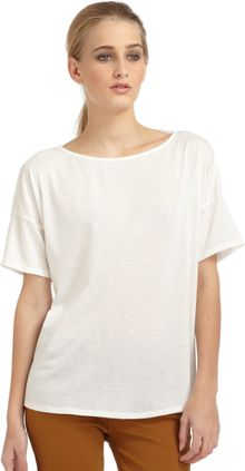 Elizabeth And James Kiara Shortsleeve Openback Tee - Lyst