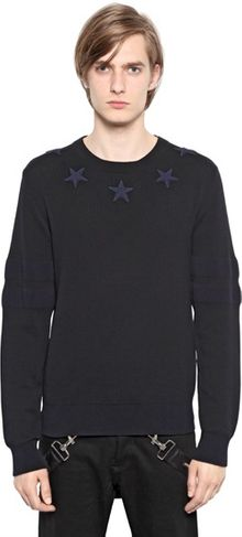 Givenchy Cotton Regular Fit Star Sweater - Lyst