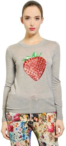 Markus Lupfer Wool Jersey Strawberry Tshirt - Lyst